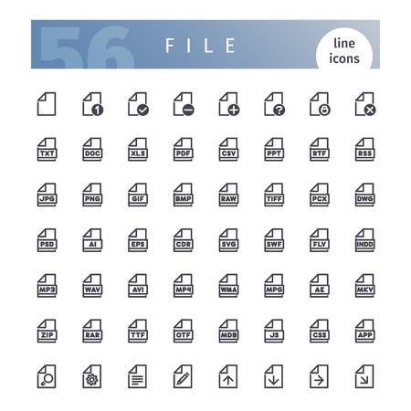 csv: File Line Icons Set.