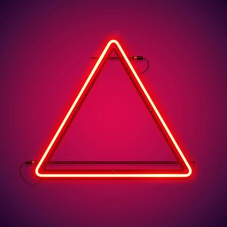 Triangular Red Neon Frame