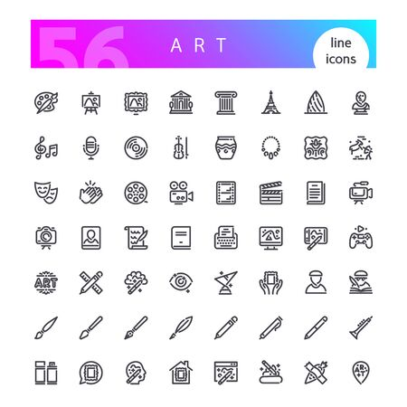 Art Line Icons Set