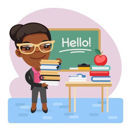 Professeur d'anglais de dessin animé
