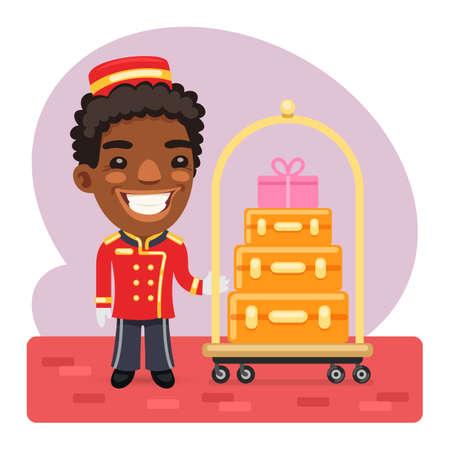 Cartoon Porter With Luggage