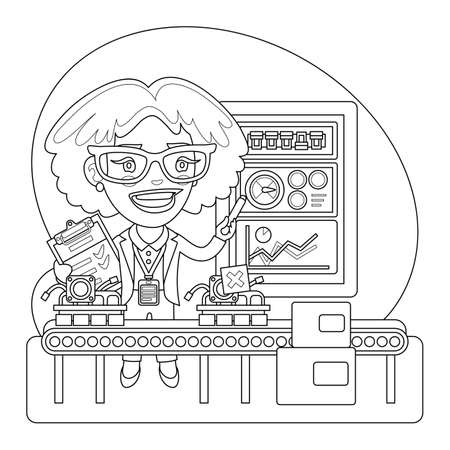 Quality Inspector Coloring Page
