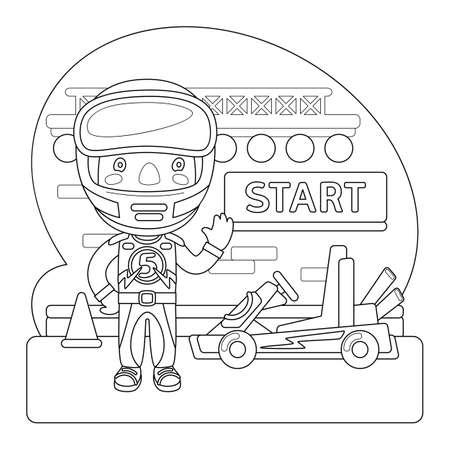 Racer Coloring Page Çizim