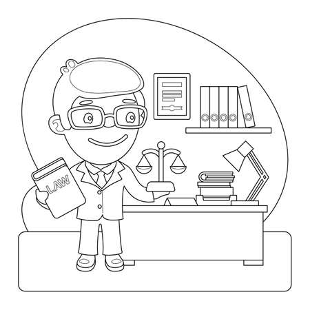 Judge Coloring Page