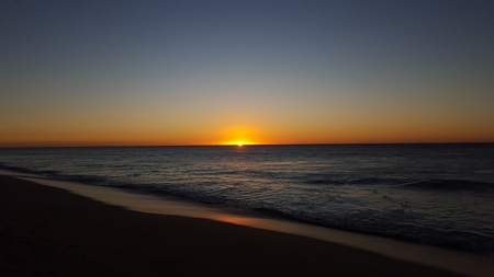 los cabos: Sunrise in Mexico Stock Photo
