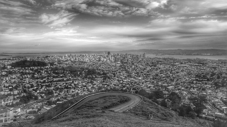 san fran: San Francisco from Twins Peak