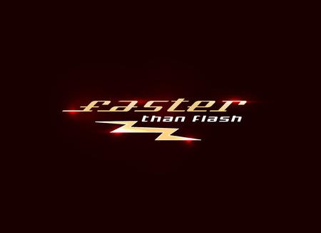 t shirt print: Flash design illustration. Fast quick symbol. Rapid thunderbolt colorful icon, t shirt print graphics