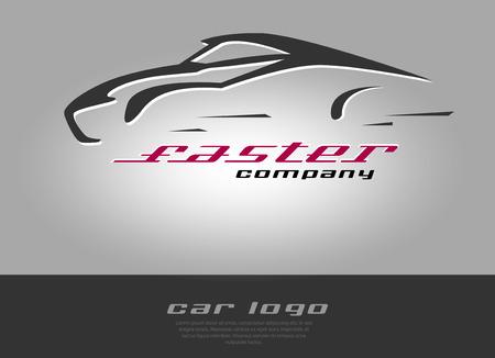 Silhouette of rapid super car. Vector Illustration.