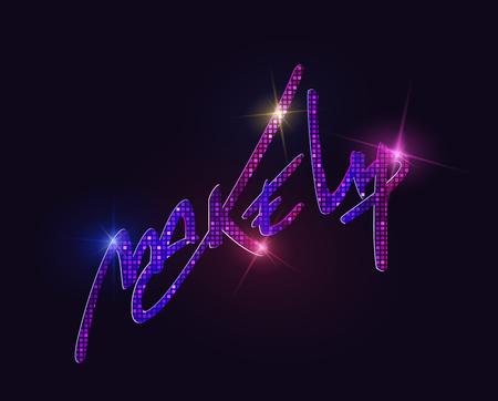 luminous: Make up shining and luminous letters on dark background.