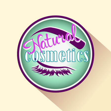 beauty product: Natural Cosmetics icon or logo. Vector badge for Beauty product
