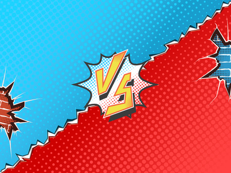 Versus letters fight backgrounds comics book superhero.