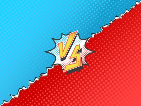 Versus letters fight backgrounds comics book superhero.