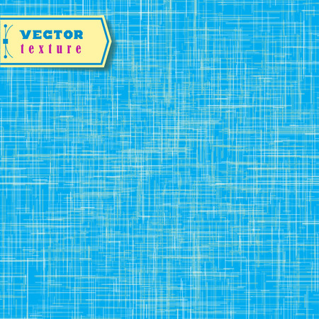 Vector Blue fabric texture for background. Shabby vintage background with fiber.