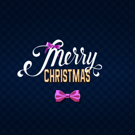 Merry Christmas girly text on dark background