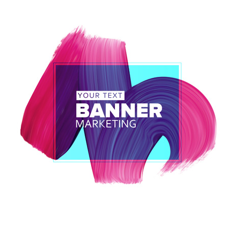 bosom: Girly pinkblue lipstick smear element for fashion media banners for booklet covers, flyers, poster, placards and social media banners