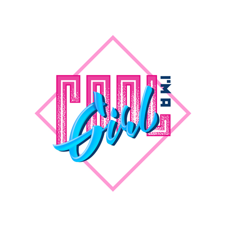 I am a Cool girl t-shirt design lettering vector text isolated on white background