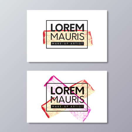 Make-up or fashion and beauty industry business card vector templates.