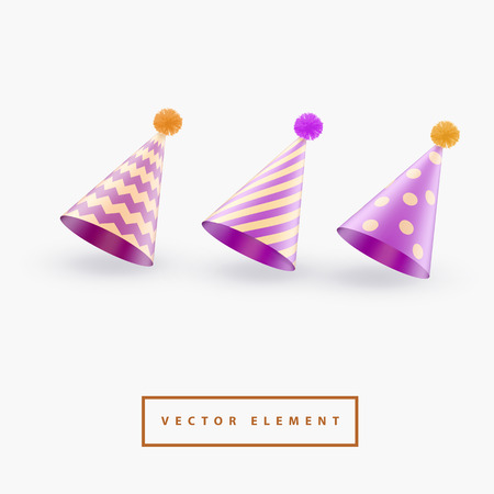 Party hat on white background vector illustration.