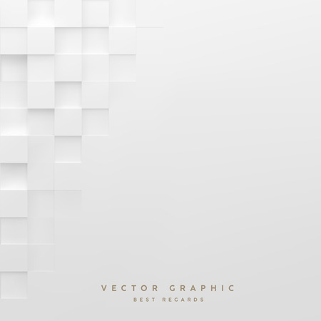 Abstracte witte vierkante achtergrond. Geometrisch minimalistisch hoesontwerp. Vectorafbeelding.