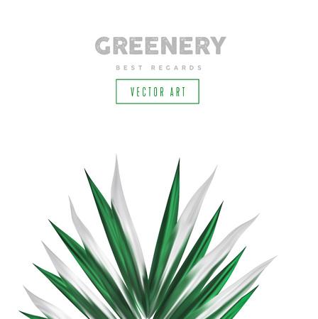 Groene palmbladen, abstract ontwerpelement. Tropisch gebladerte, minimalistische botanische kunst schilderij banner.