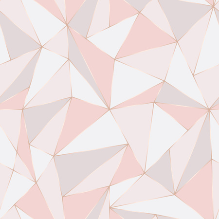 Geometric seamless pattern. Abstract Polygonal background. Triangle vector Pastel backdrop.