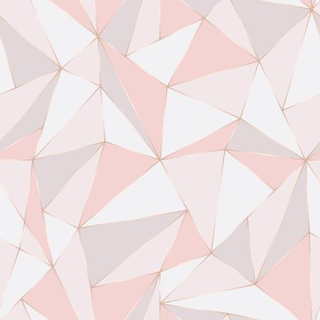 Geometrisches nahtloses Muster. Abstrakter polygonaler Hintergrund. Dreieckvektor Pastellhintergrund.