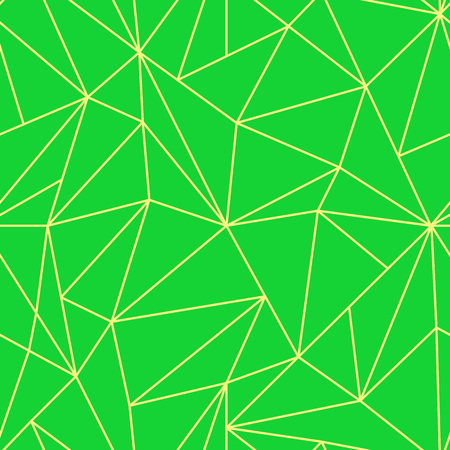 Geometric Seamless Pattern. Abstract Green Polygonal background. Triangle Vector Mosaic backdrop Çizim