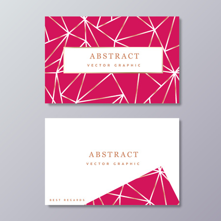 Business card template. Abstract geometric design. Gift card.