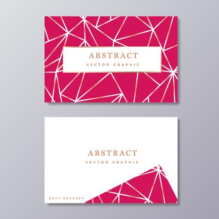 Sjabloon voor visitekaartjes. Abstract geometrisch ontwerp. Cadeaukaart.