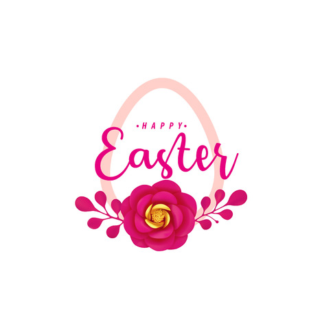 Happy Easter icon vector illustration