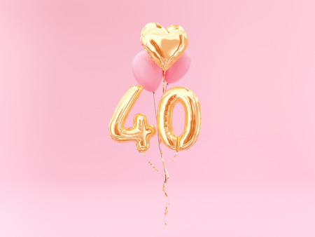 celebration balloon with number 40