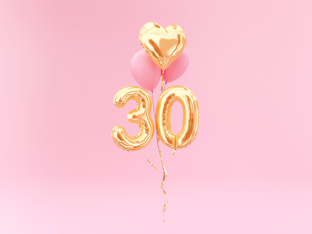 celebration balloon with number 30