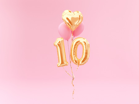 celebration balloon with number 10