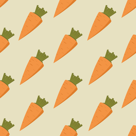 abstract paintings: Seamless pattern with orange carrots, vector illustration