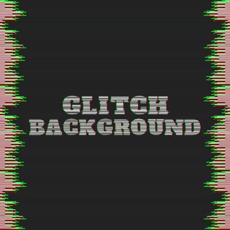 distorted image: Vector glitch pattern. Distorted horizontal stripes on the edges of the image. Colorful abstract pattern for your designs Illustration