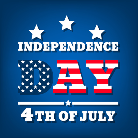 Fourth of July. United States independence day . July fourth typographic design. Vector illustration Illustration
