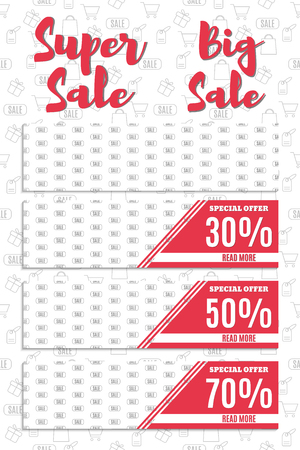 Sale banner template design. Special offer. Super sale. Vector illustration Illustration