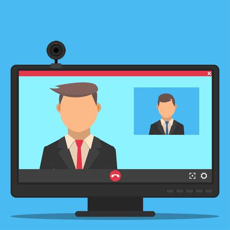 Videochat between businessmen.