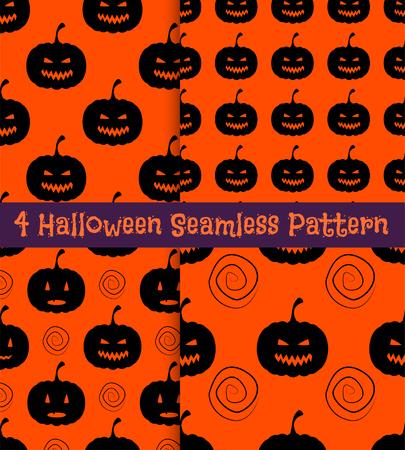 Halloween seamless pattern  illustration