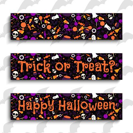 Happy Halloween. Halloween banners. Halloween design elements vector illustration
