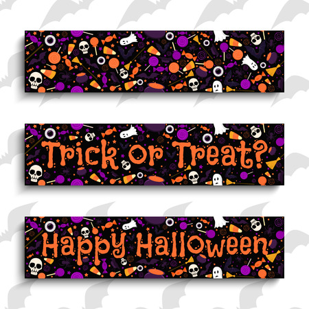 Happy Halloween. Halloween banners. Halloween design elements vector illustration