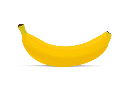 Realistic banana isolated on white background. Vector illustration Illustration