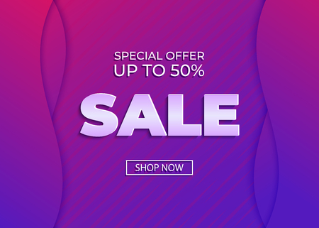 Sale banner template. Special offer. Vector gradient background Illustration