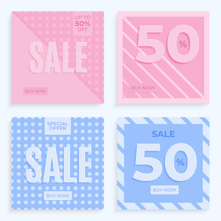 Sale banner template. Special offer. Vector gradient background Ilustrace