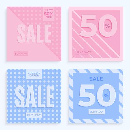 Sale banner template. Special offer. Vector gradient background Illustration