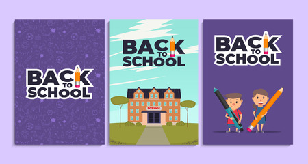 Back to school background. Back to school card template. Vector illustration. Illustration