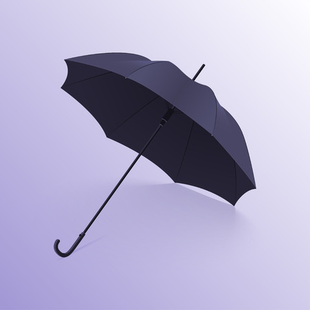 Realistic open umbrella with shadow. Vector illustration Ilustrace