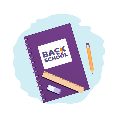 Back to school concept 1-1 Ilustrace