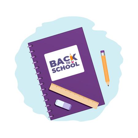 Back to school concept 1-1 Illustration