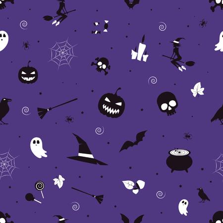 Happy halloween. Seamless pattern for print. Vector illustration